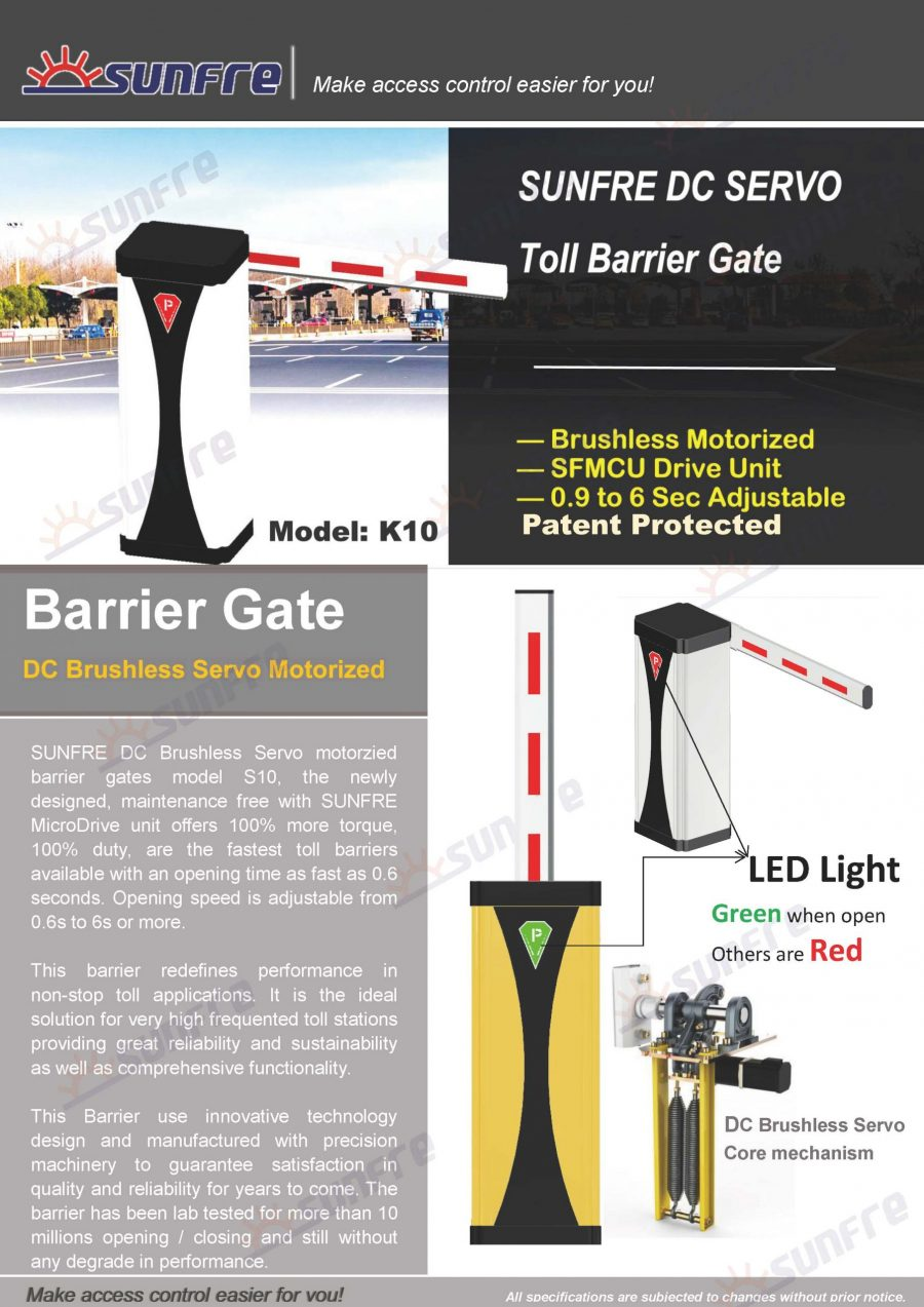 K10 barrier gate